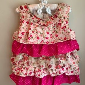 The Children's Place tiered ruffle top